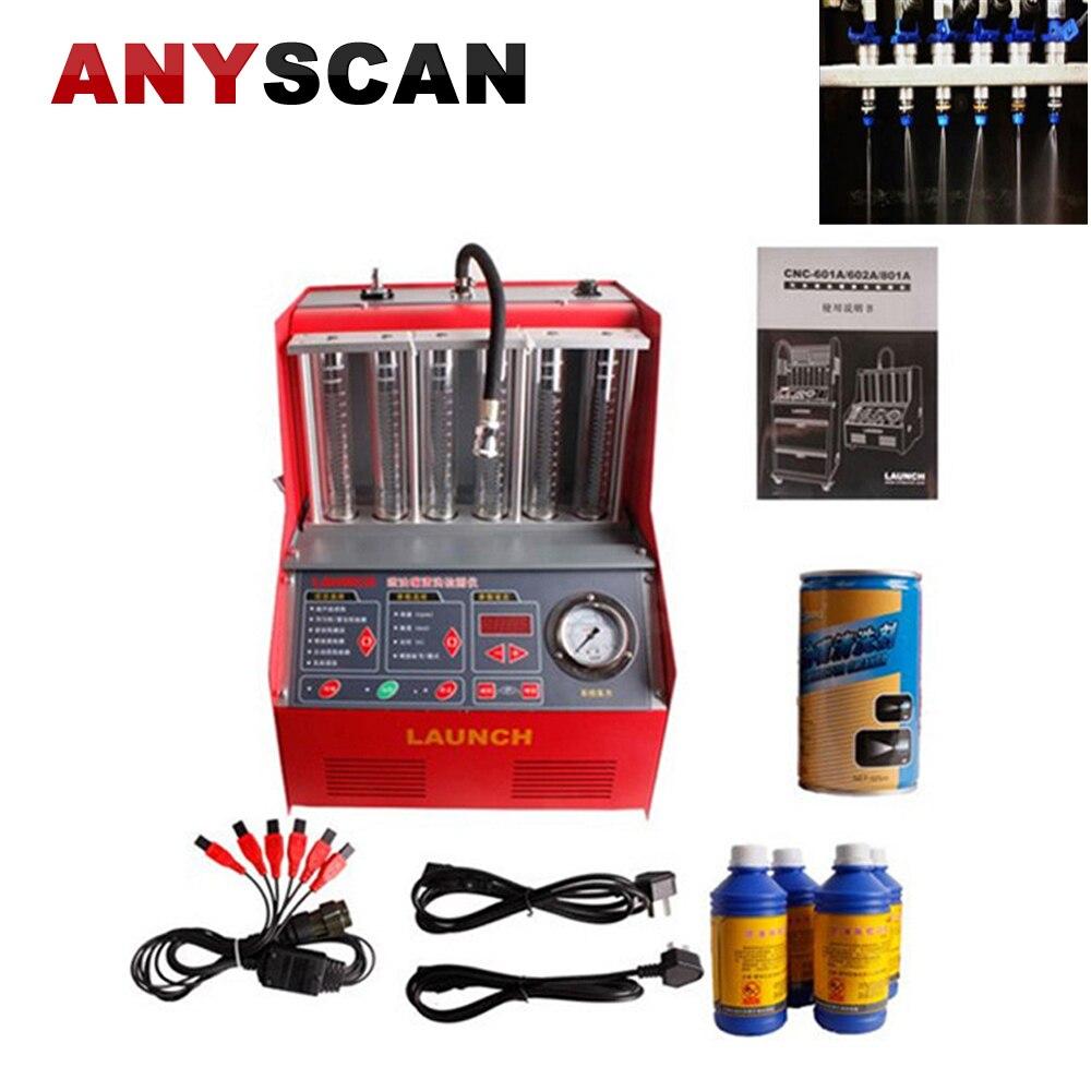 Lançamento CNC 602A Injector máquina de limpeza do injector de combustível Mais Limpo Testador com Painel Inglês Ferramenta da lavagem de Carro de Lavagem e manutenção