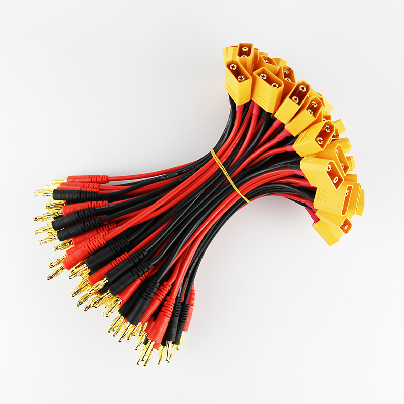 50pcs/100 pcs 15cm XT90 4.0mm Banana Connector with 14 AWG Silicone ...