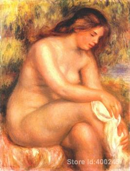 Hand painted art on canvas Bather drying her leg Pierre Auguste Renoir paintings for sale High quality