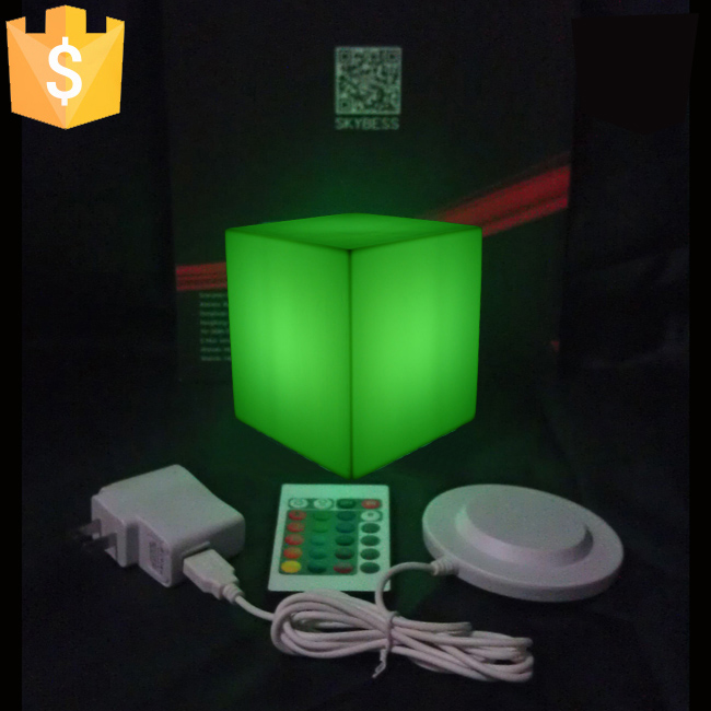 LED Mood Cubes Night Glow Lamp Light Gadget Gizmo Home Decor Romantic Lighting 13x13x13cm 16 Colors Changing Cube 4pcs