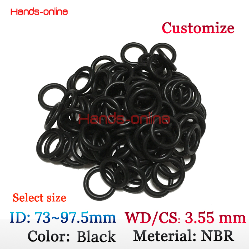 NBR O-rings ID 73 75 77.5 80 82.5 85 87.5 90 92.5 95 97.5 mm X CS 3.55mm Oil Resistant NBR Nitrile Rubber Sealing Ring стоимость