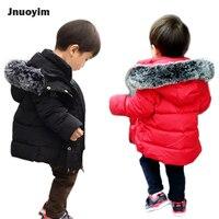겨울 패션 어린이 코트 인공 여우 모피 후드 소년 소녀 재킷 따뜻한 열 겉옷 아이 코트 레드 블랙