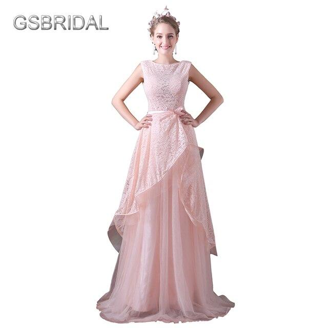 GSBRIDAL Rosa Top Lace Tüll Rock V Zurück Einfache Hochzeitskleid in ...