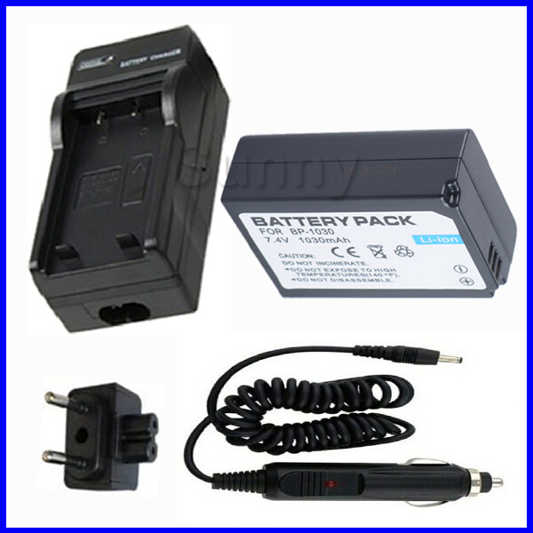 Battery and <font><b>Charger</b></font> for <font><b>Samsung</b></font> BP1030,ED-BP1030 and <font><b>Samsung</b></font> NX200, NX210,NX-210, <font><b>NX1000</b></font>,NX-1000 Digital Camera --AC home+DC Car image