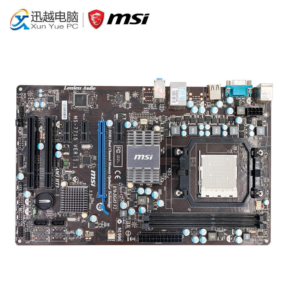 MSI 870-SG45 V2 Desktop Motherboard 770 Socket AM3 DDR3 8G STAT2 USB2.0 ATX все цены