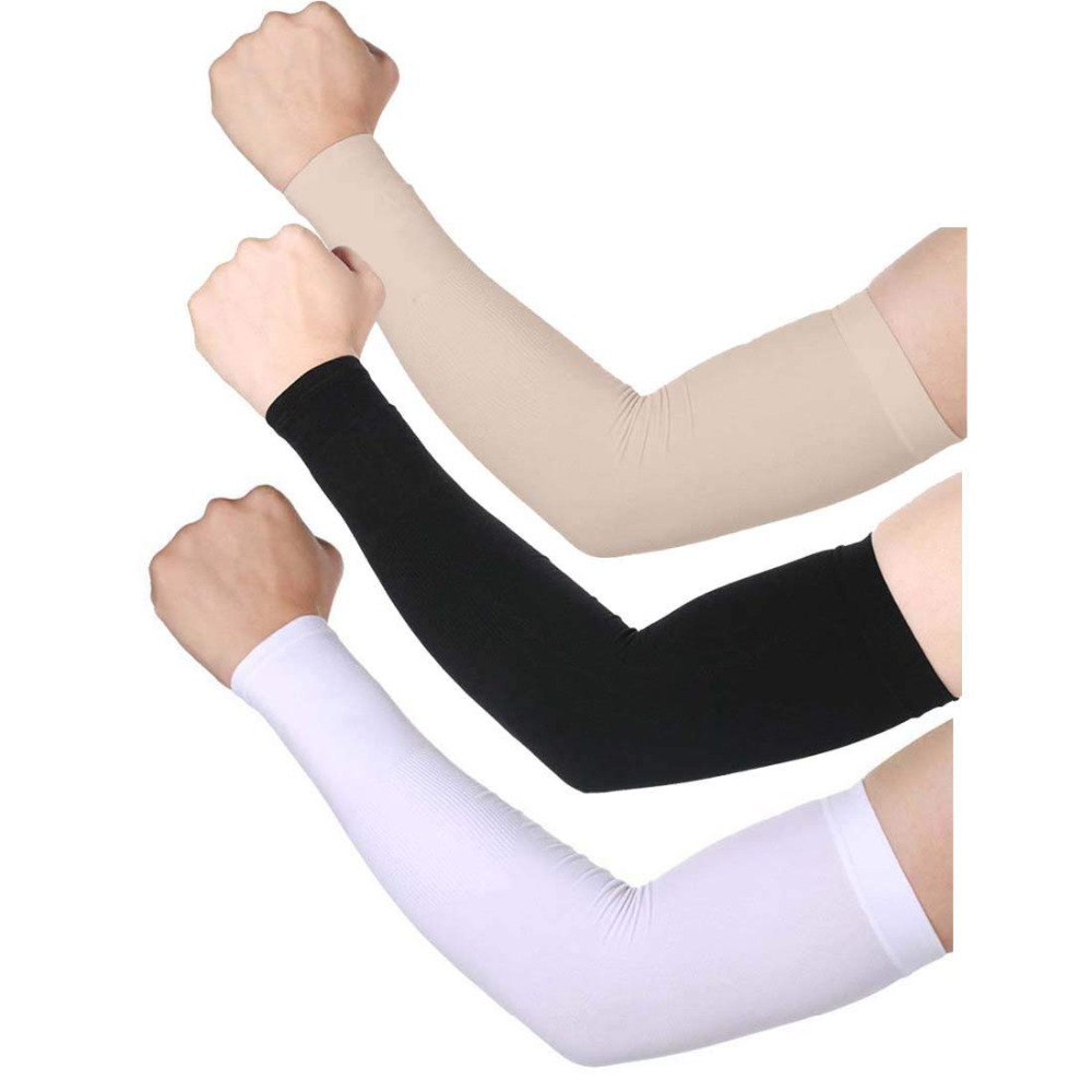 King Star UV Protection Running Driving Cooling Arm Sleeves For Men Women Outdoor Sports Cysling  No Finger