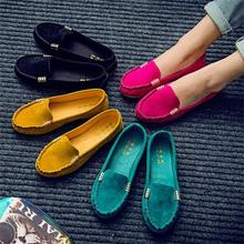 Spring Autumn Women Casual Shoes Slip on Ladies Female Fashion Soft Moccasins Leisure Flat Footwear Women Vulcanize Shoes CJ34
