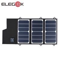 ELEGEEK 20W Portable Solar Panel Charger Folding Solar Cell Battery Charger for iPhone iPad Huawei with 2 USB Ports