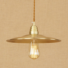 Lámpara colgante clásica de cobre industrial para Loft, cable ajustable E27, luces colgantes LED, luminaria moderna para cocina y sala de estar