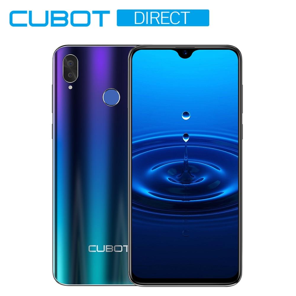 Cubot R15 SmartPhone 6.26'' 19:9 Water-Drop Screen MT6580P Quad Core Android 9.0 2GB+16GB Finger ID Dual Rear Camera13MP 3000mAh