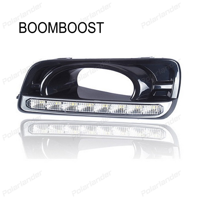 BOOMBOOST 1 pair auto lamps Daytiime running lights car styling for H/onda c/ity 2012-2015 boomboost 2 pcs auto lamps daytiime running lights car styling for f ord k uga or e scape 2013 2015