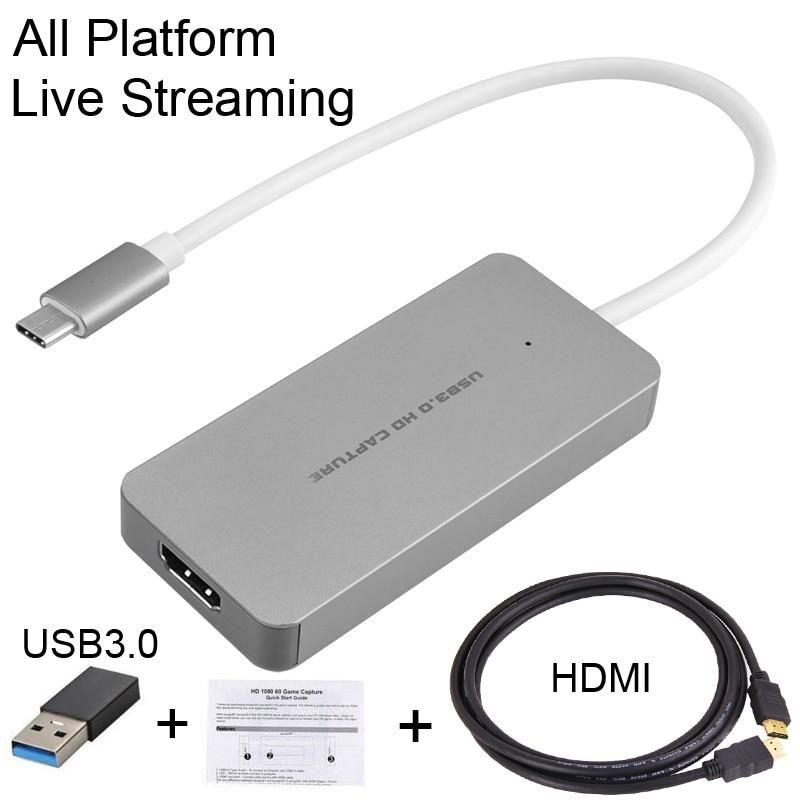 HDMI pour taper C USB 3.0 1080 P TV BOX jeu vidéo Capture carte enregistreur en direct diffusion en Streaming pour Macbook Mac Windows Win10