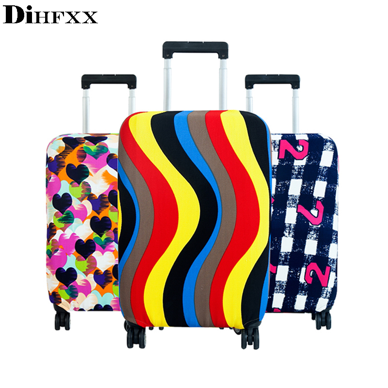 Fashion Rainbow Travel On Road Luggage Cover Protective Suitcase Cover Trolley Case Travel Luggage Dust Cover For 18 To 30 Inch