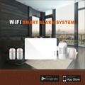 Versão padrão de Controle WI-FI Sistema de Alarme Inteligente com APP Grátis & Digitalização QR CODE para Adicionar controle Remoto/PIR/Porta/Sensor de Sirene