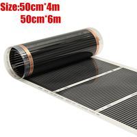 50cm*4m/50cm*6m Floor Heating Film (No accessories) Far Infrared Heating film Tool Warming Film Mat New Arrival