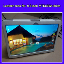 Newest for  9.6 inch MTK8752 3G tablet leather case cover tablet phone leather case