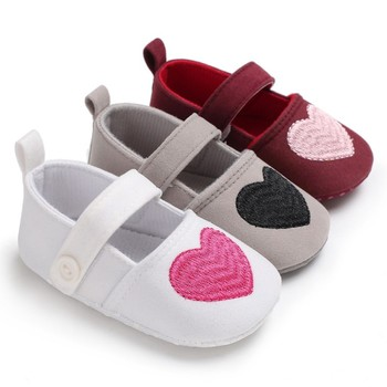 Newborn Baby Shoes Cotton Heart Cartoon Cute Baby Girl Shoes First Walkers Fashion Cute Princess Shoes Baby's First Walkers