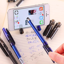 12 pcs/lot South Korea Stationery Multi-functional erasable pen friction gel 0.5mm creative crystal touch screen black ink