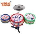 Excelente criança musical toys jazz tambor conjunto de rock música crianças brinquedos educativos aprendizagem precoce brinquedo musical do tambor