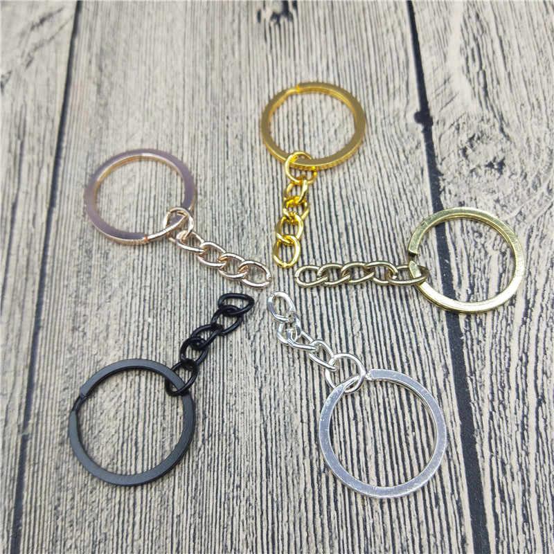 Производители поставляют высокое качество плоское кольцо с 5 цветов шлифовальная цепь металлическое кольцо брелок висячие кольца брелок