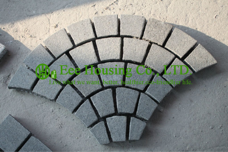 Free Shipping Granite Driveway Pavers,Natural Granite Grey Paver Stone,Square Meter Price For Beautiful Driveway Stone