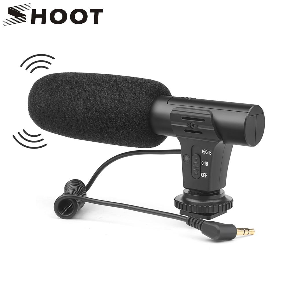 SCHIEßEN Stereo Camcorder Mikrofon für Nikon Canon DSLR Kamera Computer Handy PC Mikrofon für Xiaomi 8 iphone X Samsung