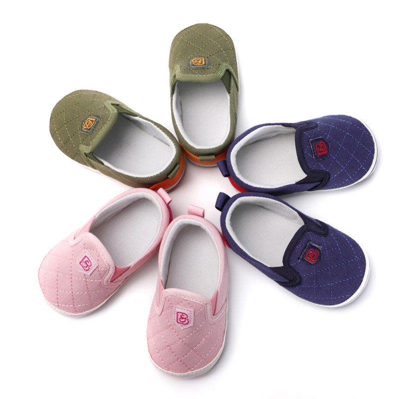 Newborn New Canvas Sports Shoes Baby Boy Girl Shallow mouth Lavender Baby Soft Sole Baby Leisure Sports Shoes