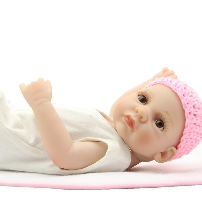Reborn Baby Dolls Full Body Silicone Vinyl 11 Inch Mini