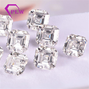 Image 1 - Provence jewelry Loose moissanite 2 carat 7*7 mm D color asscher cut test positive gem stone for bracelet  ring chain earring