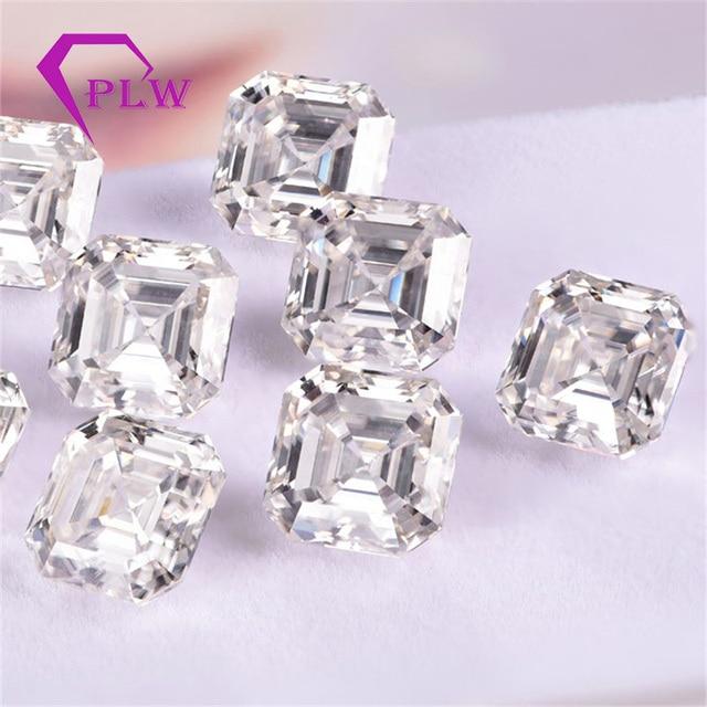 Provence jewelry Loose moissanite 2 carat 7*7 mm D color asscher cut test positive gem stone for bracelet  ring chain earring