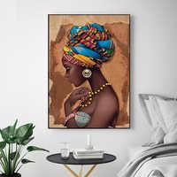 MUTU Malerei Kein Rahmen Afrikanische Wand Kunst Einzigen Gemälde Für Wohnzimmer Wand Leinwand Moderne haus Hochwertige Poster und Drucke