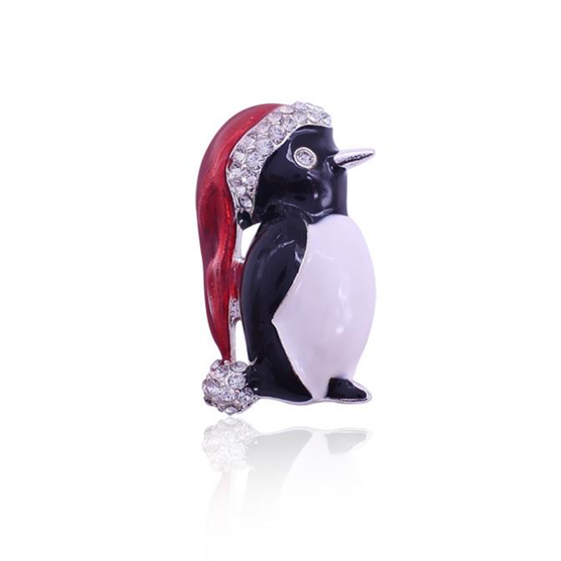 DoreenBeads 4x2.2cm Safety Pin Animal Brooch for Boys Girls Enamel Penguin Pin Brooches for T-shirt Sweater Coat Suit Scarf Bag