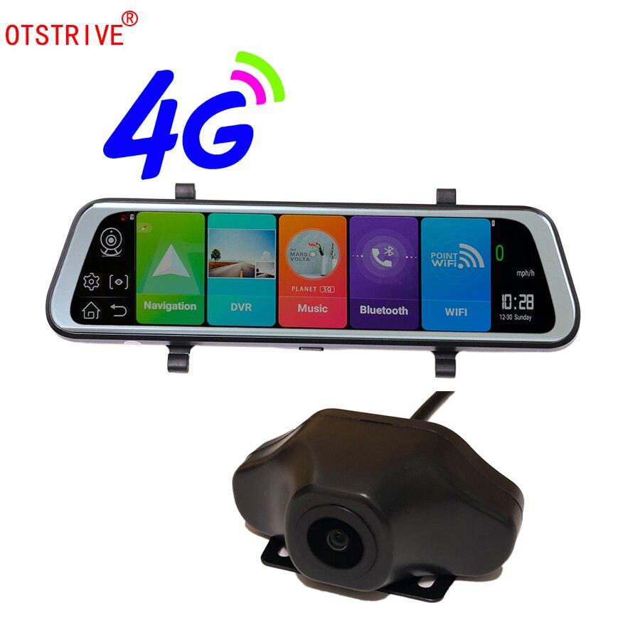 Otstrive 10 inch ADAS WiFi Bluetooth Android 8.1 GPS Dual Lens DVR Full HD 1080P 4G SIM Network Video Recorder Rear View MirrorOtstrive 10 inch ADAS WiFi Bluetooth Android 8.1 GPS Dual Lens DVR Full HD 1080P 4G SIM Network Video Recorder Rear View Mirror