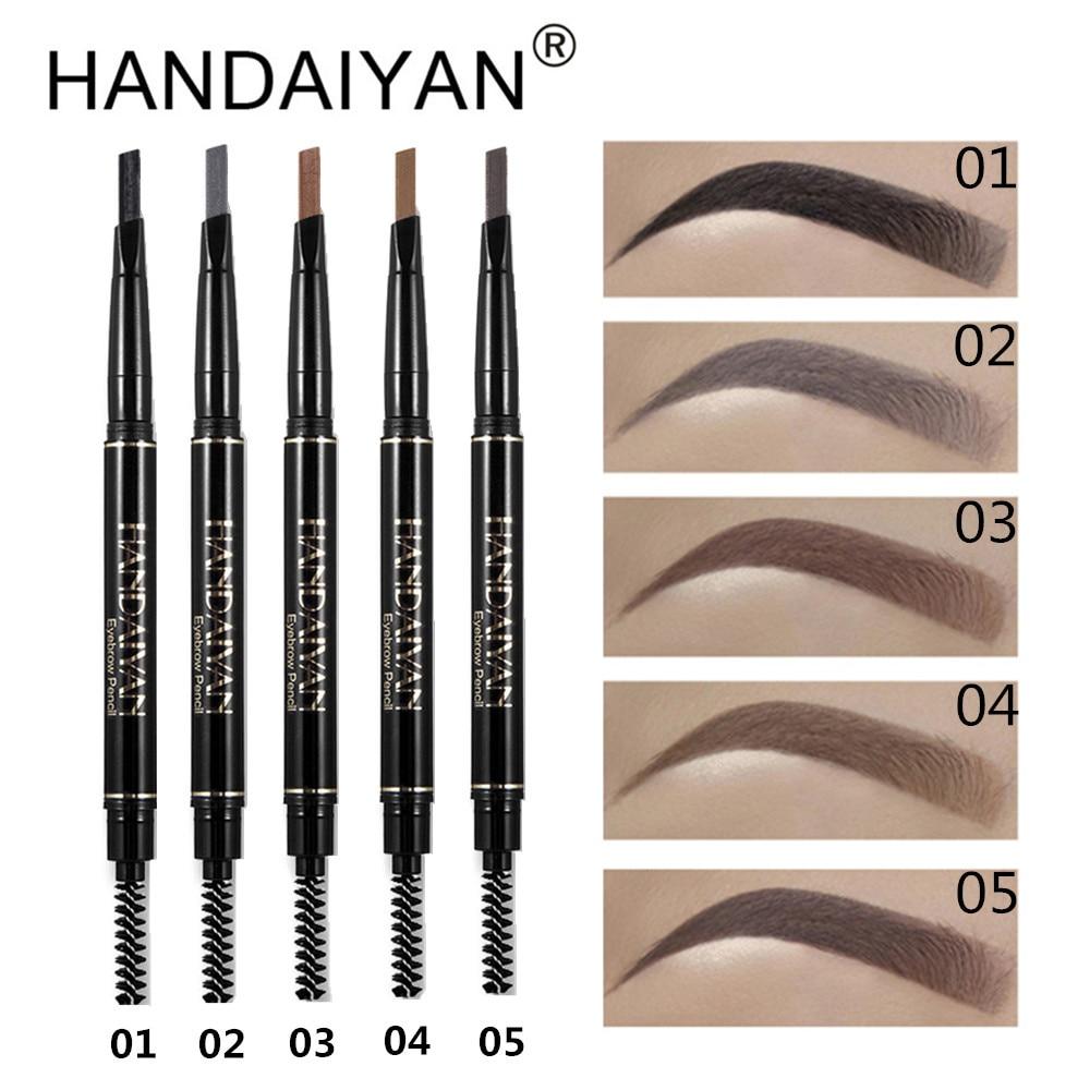 HANDAIYAN Waterproof Eye Brow Cosmetic Natural Long Lasting Women Beauty Make Up Tool Maquiagem Eyebrow Pencil & Brush