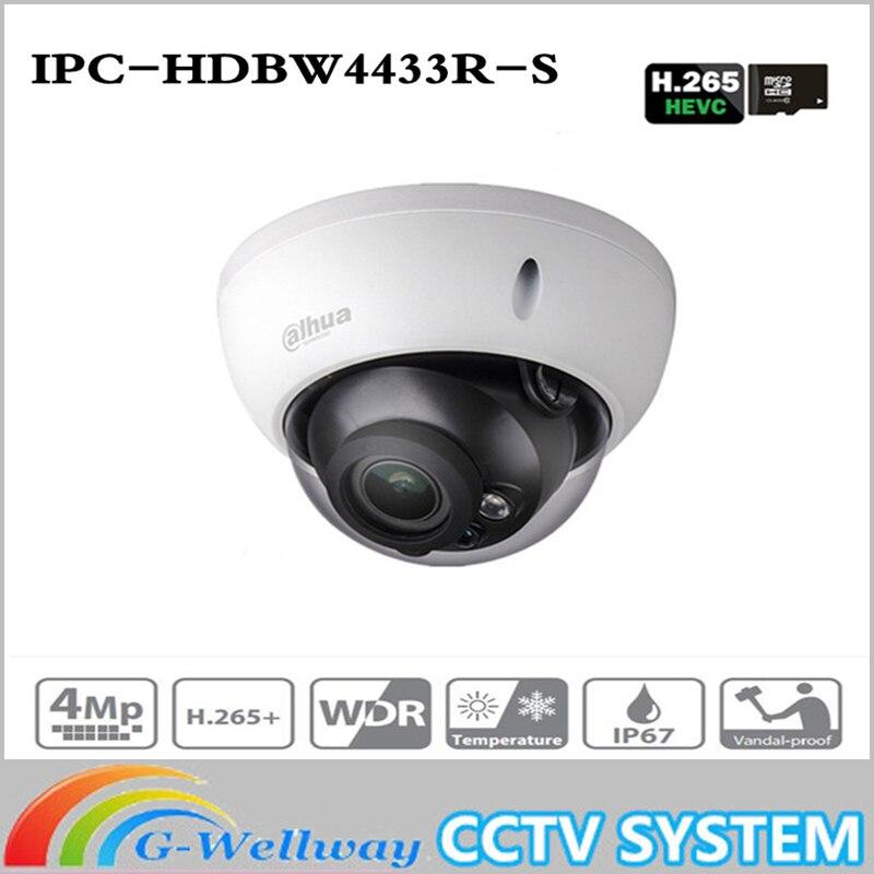 CCTV Camera IPC-HDBW4433R-S 4MP IP PoE Camera Replace IPC-HDBW4431R-S With POE SD Card Slot Support IK10 IP67 Starnight Vision dahua ip camera poe 4mp ipc hdbw4433r zs starlight 2 7mm 13 5mm motorized lens h2 65 ir50m sd card slot ip67 ik10