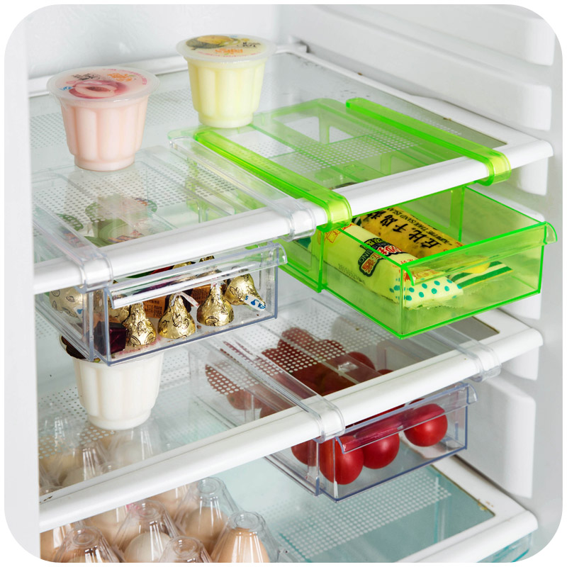 Large refrigerator separator layer classification storage rack kitchen multi purpose storage preservation twitch glove box
