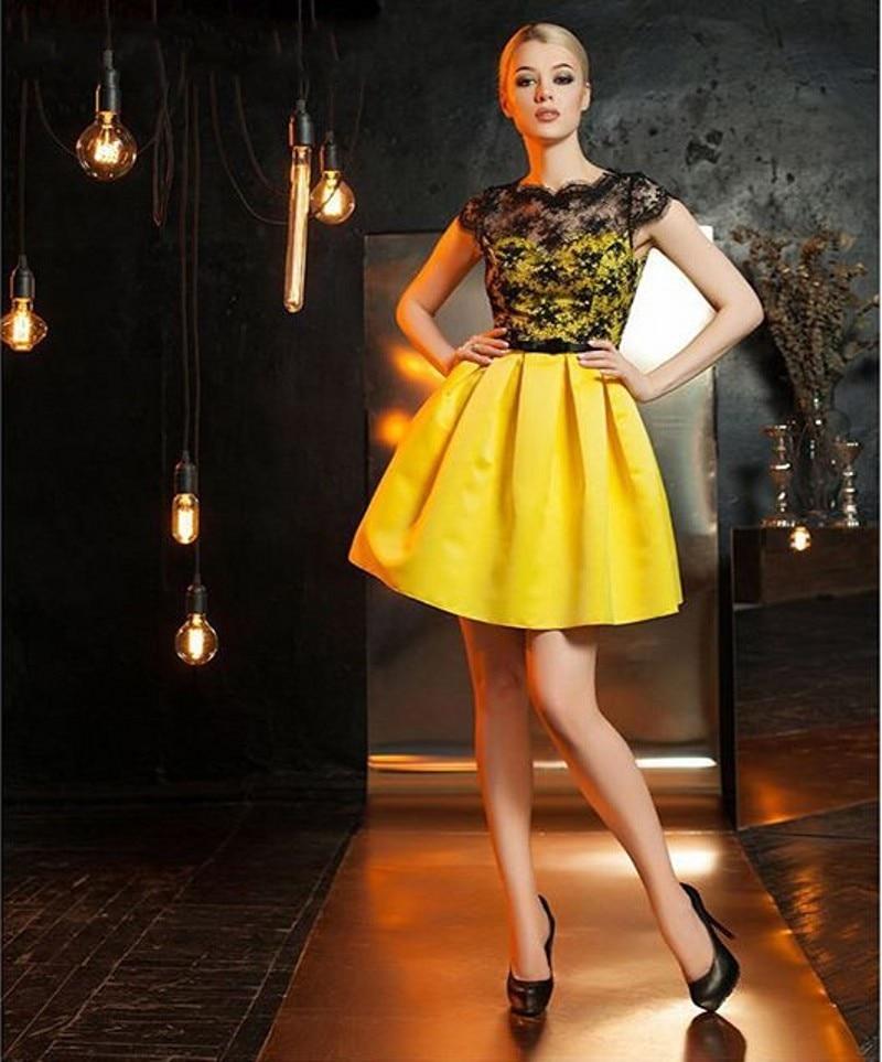 Cheap yellow short dresses