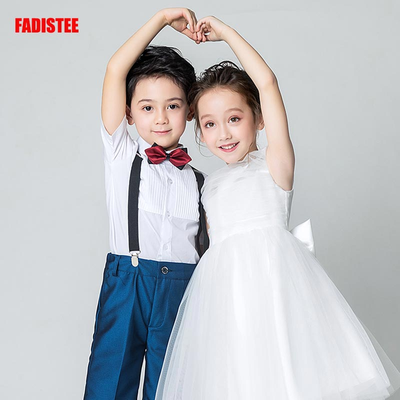 FADISTEE New Arrival Pretty   Flower     Girl     Dresses   appliques Baby   Girl     Dress   lace sweet style   dresses   ivory pleat tulle