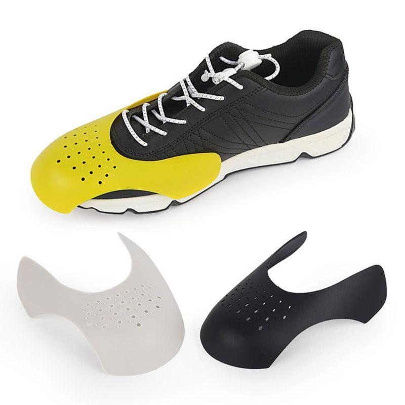 2018 1 paire de boucliers de chaussures baskets protecteur Anti pliage soutien chaussures de Sport Protection des orteils accessoires respirants2018 1 paire de boucliers de chaussures baskets protecteur Anti pliage soutien chaussures de Sport Protection des orteils accessoires respirants