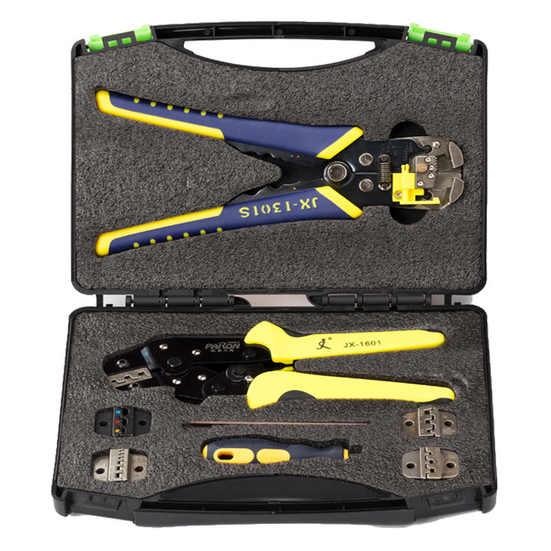 ALLSOME JX-D5301 Multifunctional Ratchet Crimping Tool Wire Strippers Terminals Pliers Kit HT2240 new jx d4301 multifunctional ratchet crimping tool wire strippers terminals pliers kit