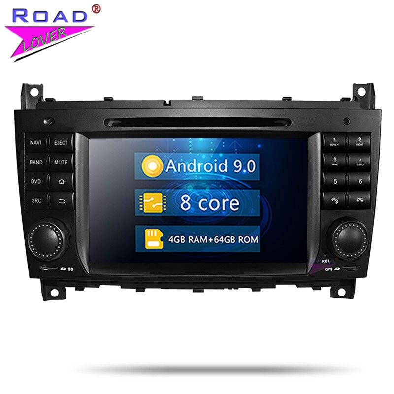 Roadlover Android 9.0 lecteur DVD de voiture pour Benz C-W203 (2004-2007) CLK W209 (2004-2005) stéréo GPS Navigation Radio Magnitol 2 Din