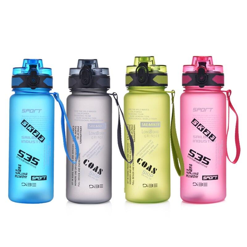 800 ml/1000 ml gran capacidad creativa Bounce cubierta botellas de agua de plástico saludable deportes al aire libre viaje mi botella Shaker botella