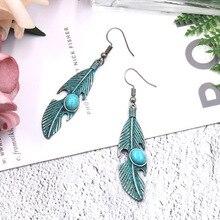 3 colors of vintage bronze leaf pendant earrings ladies pendant earrings ladies jewelry bohemian style стоимость