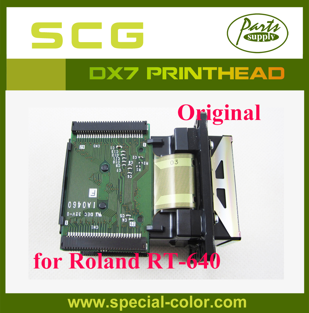 (6701409010) 100% Original/Brand New Roland RT-640 Solvent Printhead for Epson DX7 Roland RT640 original printer printhead mainfold eco solvent print head capping cover for roland rs640 740 sj1045ex sj1000 vp300 vp540 xc540