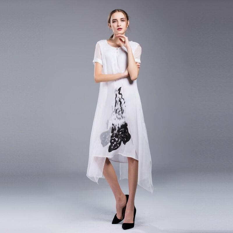 Шелковые платья прямые
