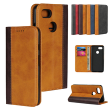 LUCKBUY For google pixel 3 Classic PU Color Matching Leather Wallet Stand Flip Credit Card Pockets for XL 3xl