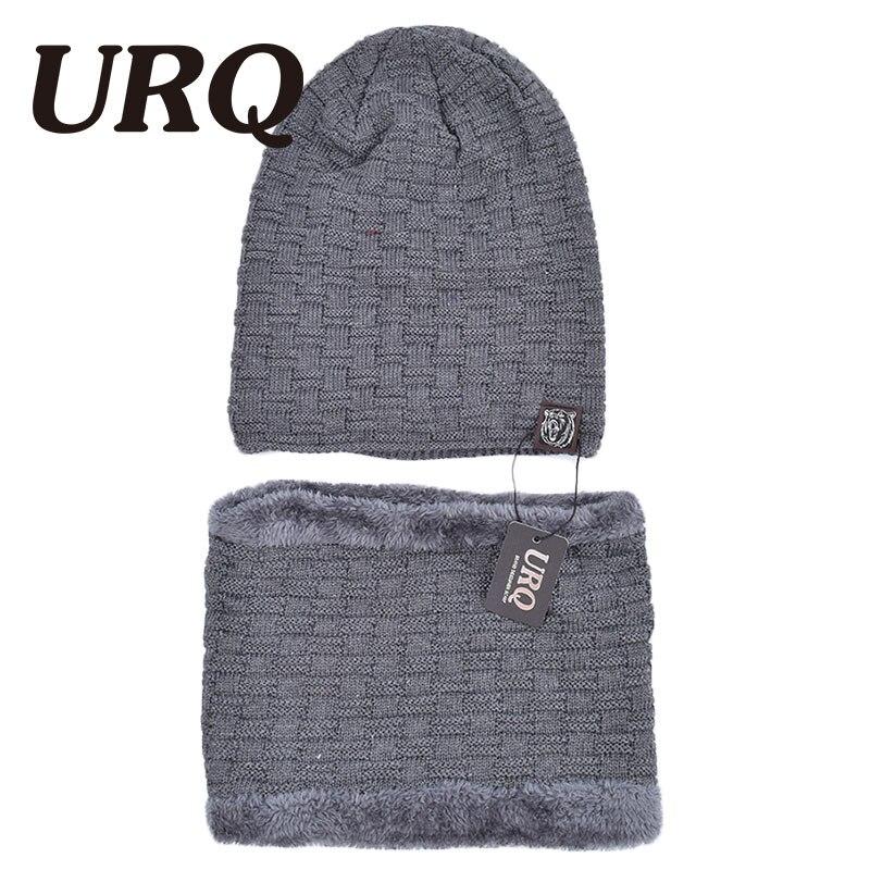 ff740a23e1a62a Strickmütze schal kappe set nackenwärmer Winter Hüte Für Männer warme mütze  Skullies & Mützen 1012
