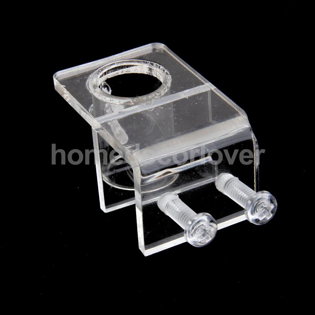 China aquarium fish tank price - Acrylic Aquarium Fish Tank Water Pipe Hose Clip Clamp Holder 21mm In Dia China