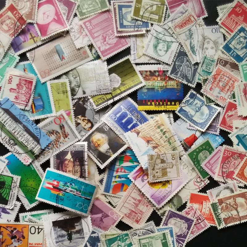100 copë / Lot Gjermani Të Gjitha Vëmendje të Postave të Kompanive të ndryshme të përdorura Vula postash të përdorura me pullë postare për koleksione