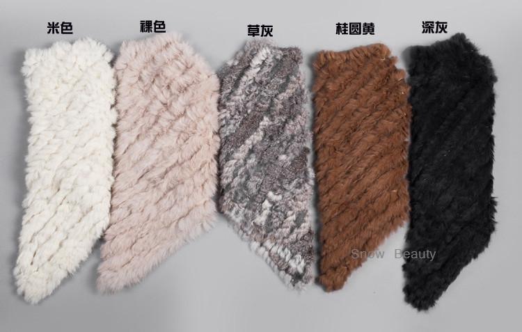 natural real knitted rabbit fur poncho shawl (36)